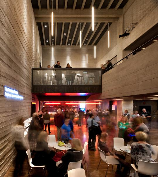 Dorfman Theatre Foyer photo by Philip Vile